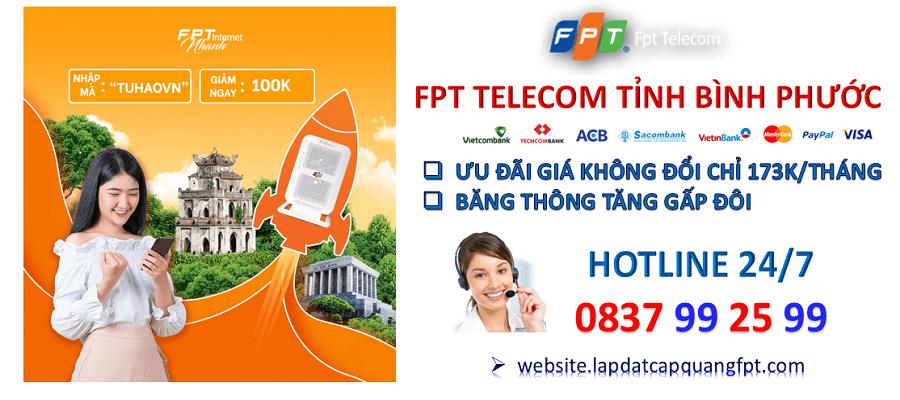 lắp mạng cáp quang FPT tại Bình Phước