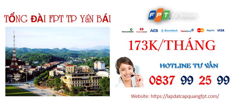 Lắp mạng FPT TP Yên Bái cáp quang siêu tốc giá rẻ